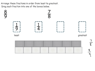 Ordering multiple fractions practice problems