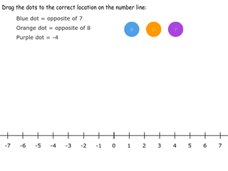 6.NS.6a practice problems identifying opposites