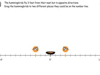 6.NS.7c practice problems finding distances from zero
