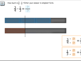 Subtracting fractions practice problems