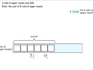 6.RP.3b practice problems solving missing value problems
