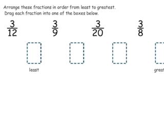 3.NF.3d practice problems ordering with common numerator