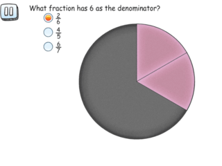 3.NF.1 practice problems numerator and denominator