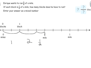 6.NS.1 practice problems repartitioning number line for division
