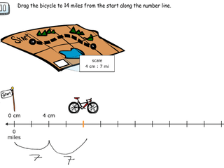 6.RP.3a practice problems scaling along a number line