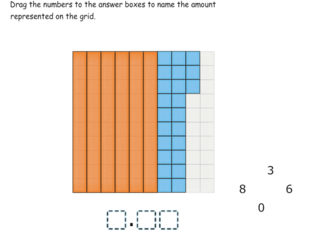 Building tenths from hundredths practice problems