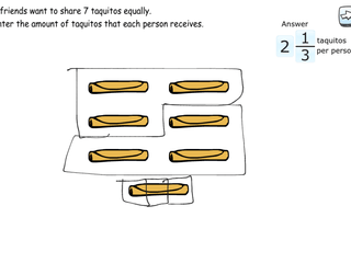 6.RP.2 practice problems equal sharing with remainders
