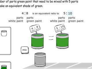 6.RP.3b practice problems mixing paint with unit rates